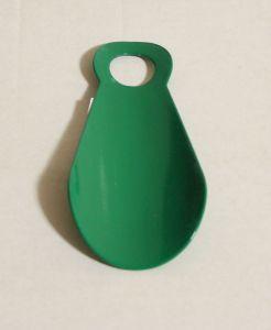 ! ложка для обуви металл 11см зел, ячейка: 142