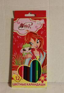 ! карандаши цветные 12цв, ячейка: 12