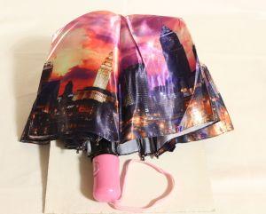! зонт женс полуавтомат вечерний город 9спиц, ячейка: 144