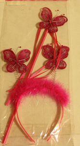 ! набор ободок бабочки и палочка малиновосер, ячейка: 95
