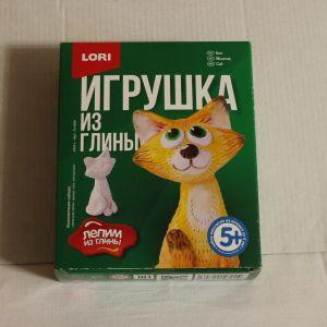 ! игрушка из глины кот, ячейка: 40