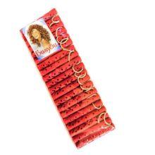 Резиновые бигуди-коклюшки 1х7 см, 20 шт, Цвет: Красный