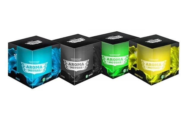 "Ароматизатор гелевый ""Aroma Motors"" GRASS 100мл (Oasis; Sweet fruit; Juice citrus; Black star)"