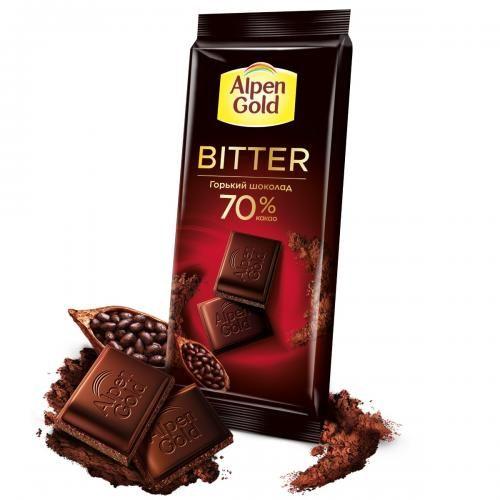 Шоколад Alpen Gold горький 70% 85г