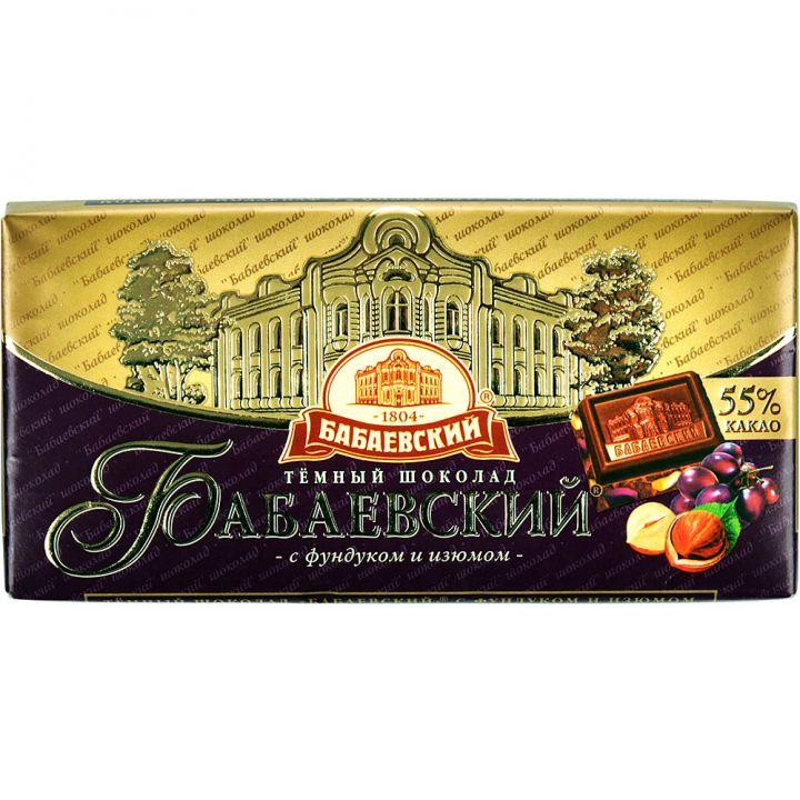 Шоколад Бабаевский изюм/фундук 100г