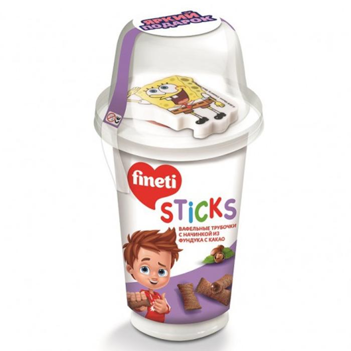 Паста ореховая Финети с вафельными трубочками + игрушка 45г