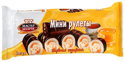 Мини-рулеты Мастер Десерта с кремом вареная сгущенка 175г