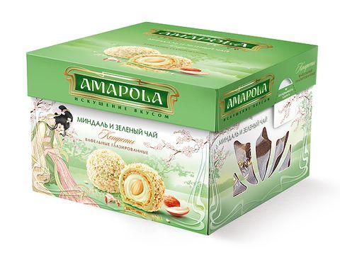 Набор шок. Амапола миндаль и зеленый чай 100г РусКо