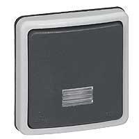 90482 Plexo Кнопочный выключатель с подсветкой IP66 Legrand