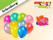 Набор воздушных шариков, 10 штук в упаковке. Цвета шариков ассорти. Вес упаковки 3,2 грамма (арт. S 338)