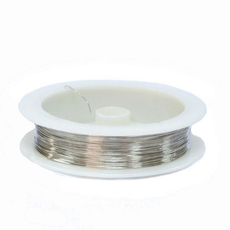 Проволока для бижутерии, 0,5 мм,  Светлое серебро, 30 м