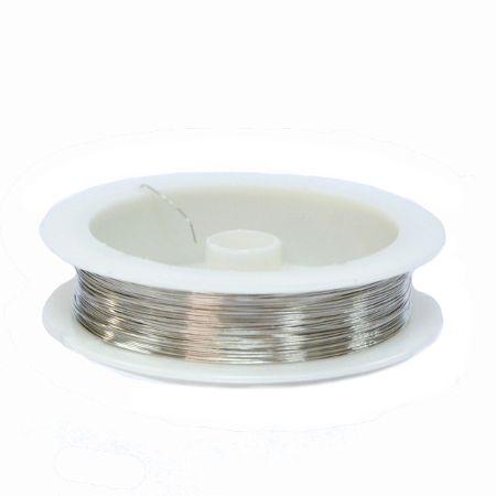 Проволока для бижутерии, 0,4 мм,  Светлое серебро, 50 м