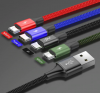 Кабель Baseus 4 в 1 USB - 2хMicro USB/Lighting/Type-C