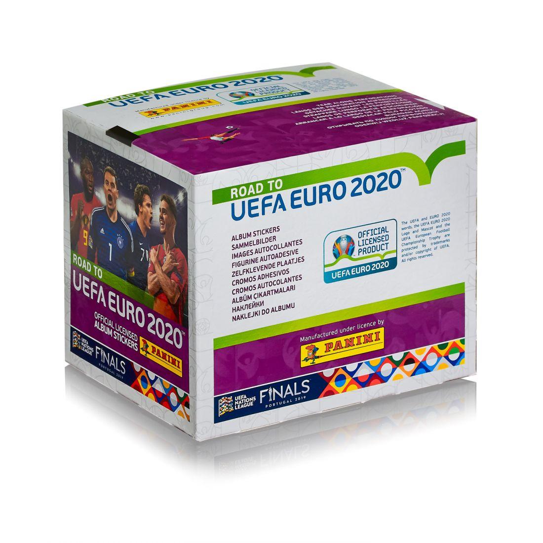"""Наклейки Panini """"Road to EURO 2020"""", 50 пакетов"""