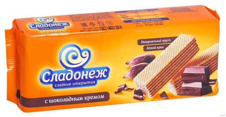 Вафли Сладонеж шоколад 270г