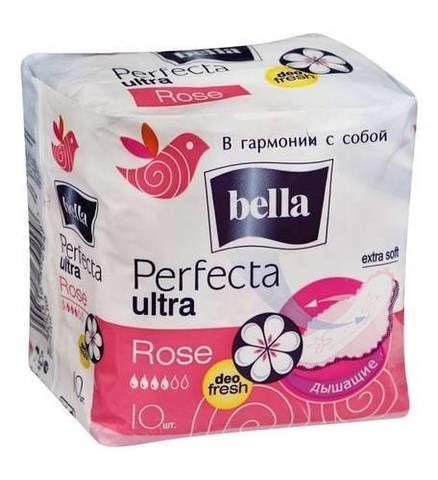Прокладки Белла перфекта Ультра роза део фреш10шт