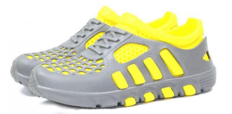 Кроссовки ЭВА 110 серо-жёлтые