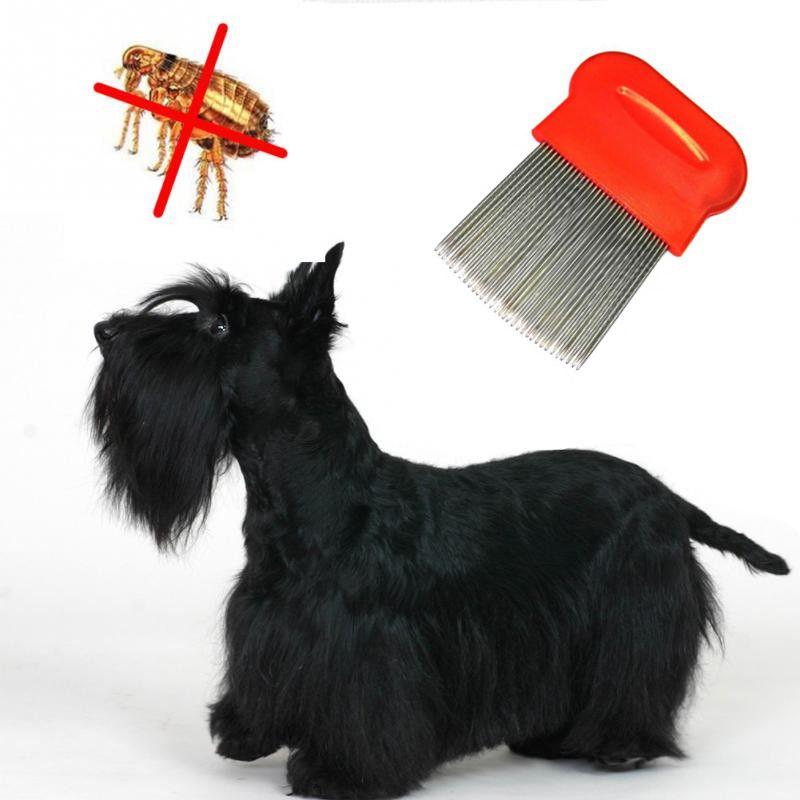 Гребешок Для Вычесывания Блох У Домашних Животных, 8х6 См, Цвет Красный
