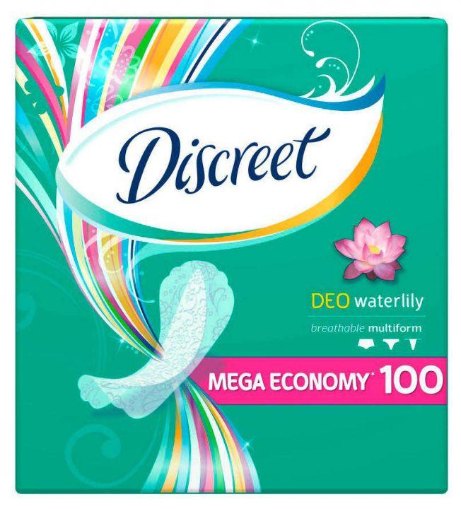 Прокладки Alldays Discreet на кажд. день Deo Water Lily 100шт