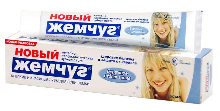 Зуб. паста Новый жемчуг Бережное отбеливание 50мл.