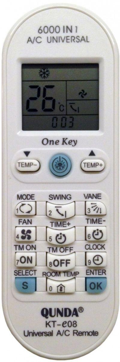 Пульт для кондиционера универсальный Qunda KT-E08 (6000 in 1)