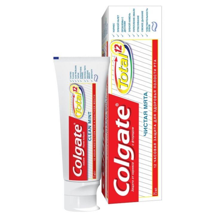 Зуб. паста Colgate 75мл гель Total чистая мята