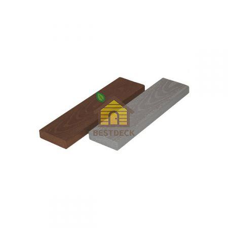 Брус отделочный полнотелый 80*22*3000 мм Каштан; Серый