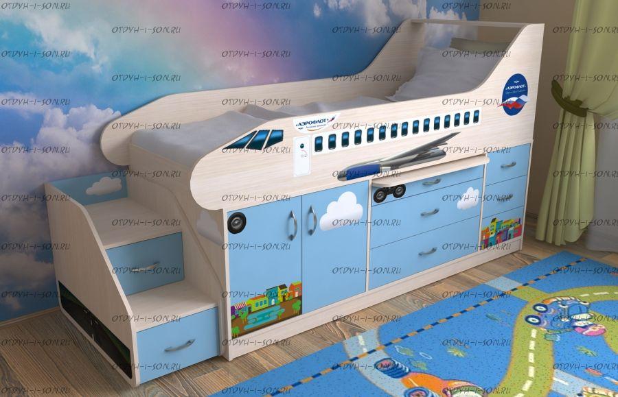 Кровать Самолет, различные цвета