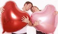 Шар сердце РОЗОВЫЙ фольга с гелием 86 см