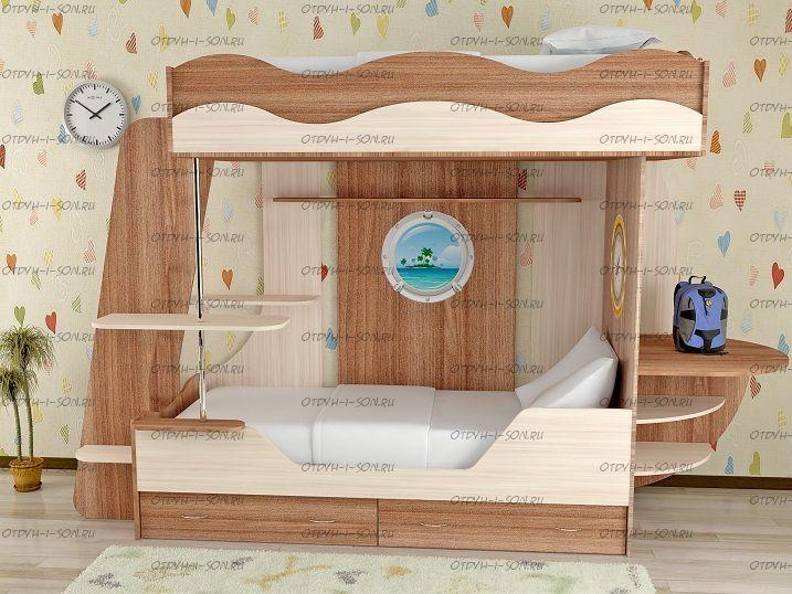 Кровать двухъярусная Кораблик-2