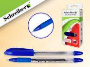 Ручка: шариковая, игольчатый наконечник, пластиковый прозрачный корпус, СИНЯЯ, чернила на масляной основе (АНАЛОГ TZ-4764), ПРОИЗВОДСТВО - РОССИЯ (арт. S 0050 P)