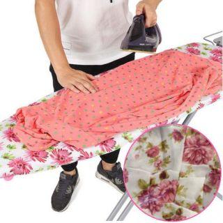 Чехол для гладильной доски, 140х50 см, Узор: Розовые цветы