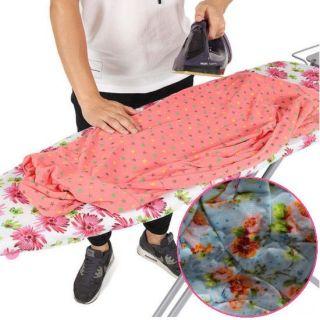 Чехол для гладильной доски, 140х50 см, Узор: Оранжевые цветы