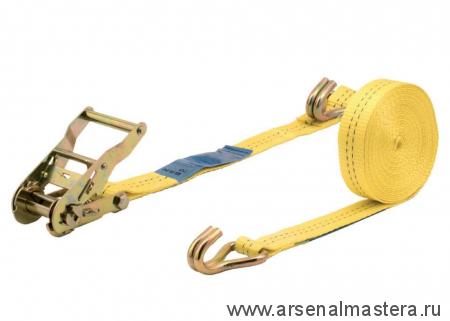Натяжитель ленты с храповым механизмом (5м, до 1000кг, с крючками) Wolfcraft 3274000