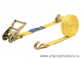 Натяжитель ленты с храповым механизмом (5 м, до 1000 кг, с крючками) Wolfcraft 3274000