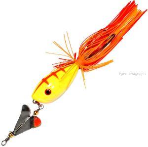 Приманка-незацепляйка Kosadaka тверд. оснащ. плав. Лягушка-поппер с пропелл.  LF35 45мм /  7гр / цвет:  P16