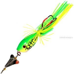 Приманка-незацепляйка Kosadaka тверд. оснащ. плав. Лягушка-поппер с пропелл.  LF35 45мм /  7гр / цвет:  P13