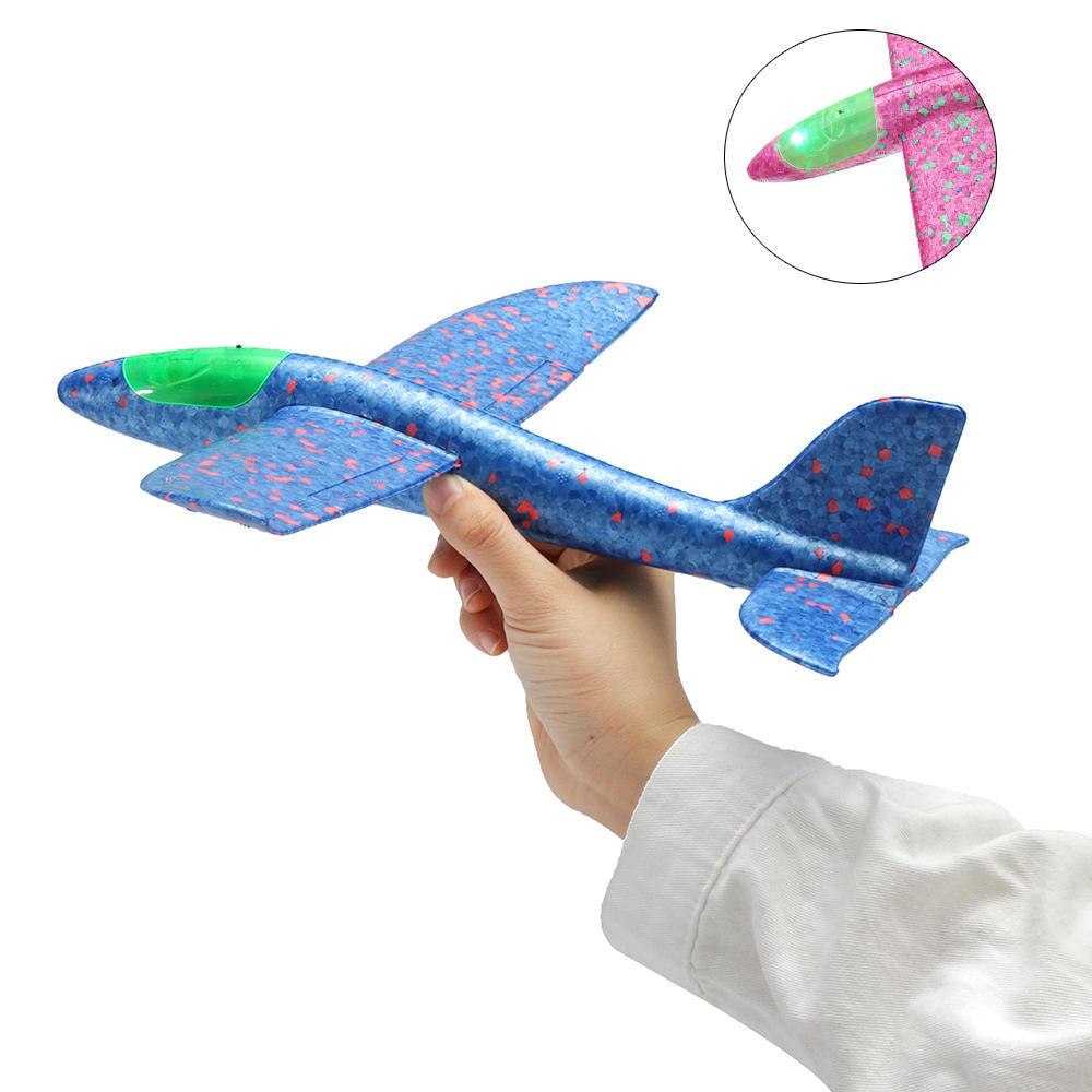 Самолет Планер 25 см LED подсветка в ассортименте