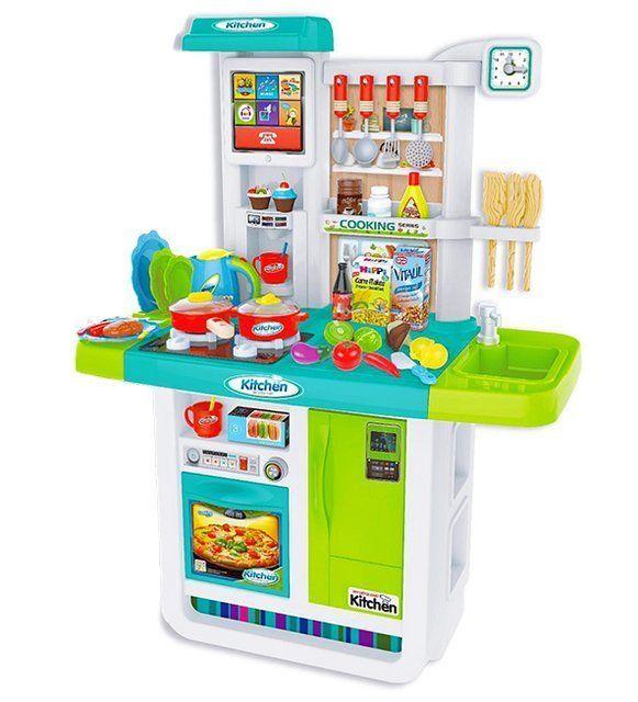 WD-B23 Детская Кухня Люкс большой набор с водой, интерактивной панелью и кучей аксессуаров 100 см.