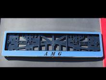 Рамка номерного знака, c логотипом, нерж. сталь, пара