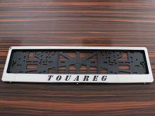 Рамки номерного знака, c логотипом, нерж. сталь, пара