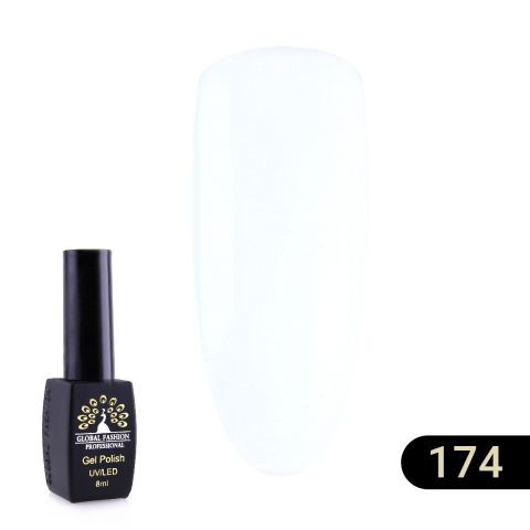 Гель лак Global Fashion BLACK ELITE 8 мл, white 174/175