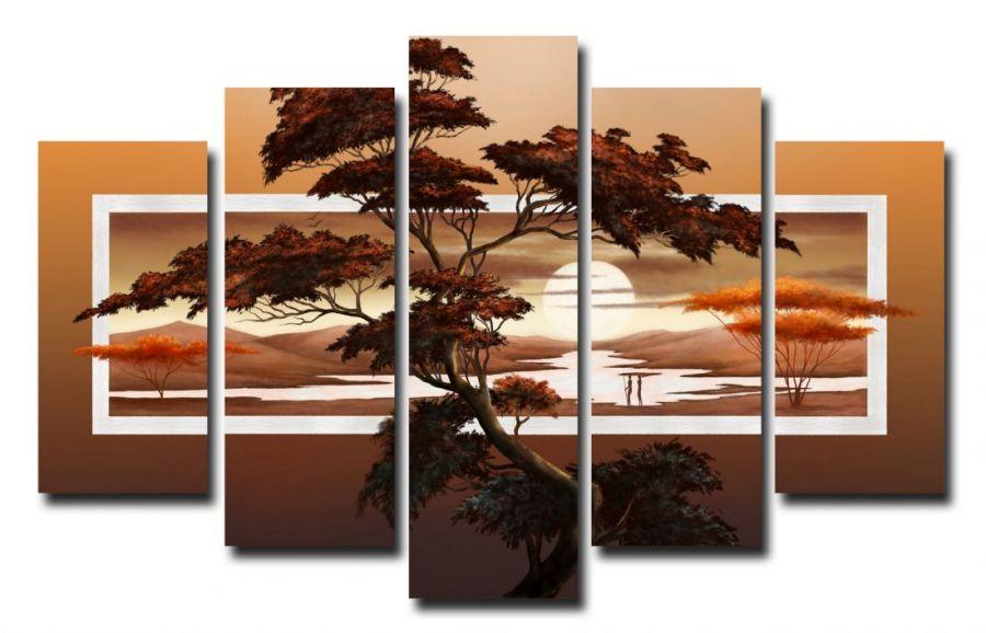 Модульная картина Дерево в пустыни