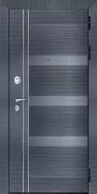 Дверь входная взломостойкая Сенатор Карбон, цвет черная мозаика, панель - на выбор