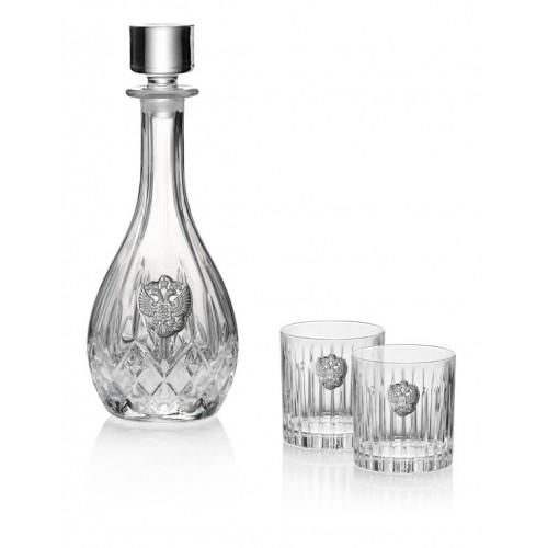 Комплект бутылка для ликера 90 см + 2 бокала 36 см (Италия)