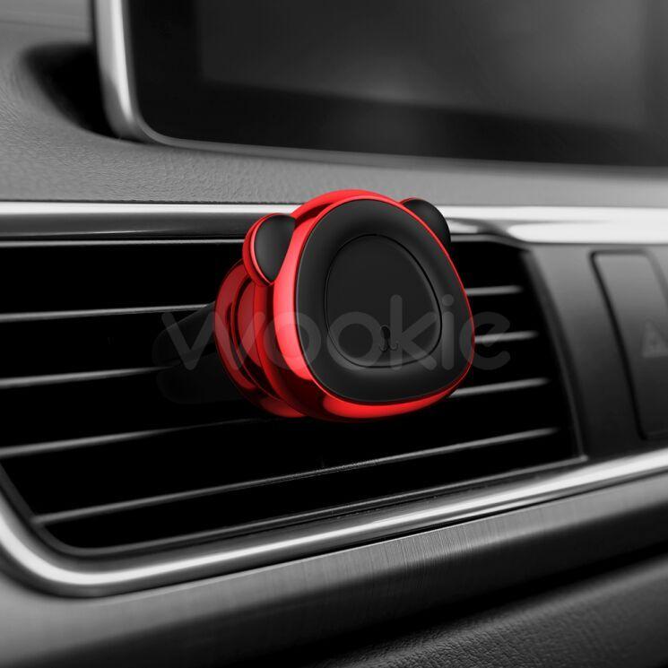 Автомобильный держатель Baseus Bear magnetic car bracket красный (SUBR-A09)