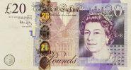 Великобритания Англия 20 фунтов 2006 год VF