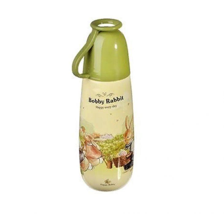 Бутылочка с кружкой 650 мл пластик ЗАЙЧАТА 829-148