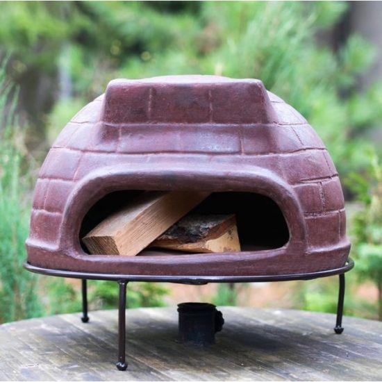 Дровяная печь для пиццы СИЦИЛИЯ_52  маленькая (цвет тёмно-коричневый)