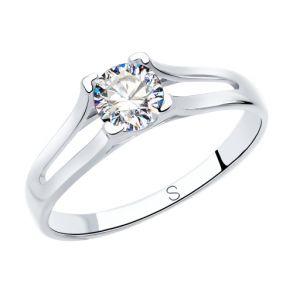 Кольцо из серебра со Swarovski Zirconia 89010119 SOKOLOV